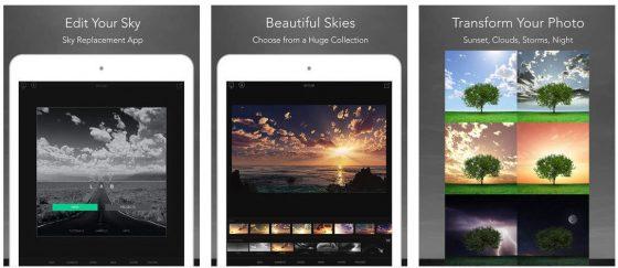 Mit SkyLab Photo Editor kannst Du Deine Außenaufnahmen mit tollen Himmel-Overlays aufwerten. Es gibt zahlreiche Vorlagen, die man in Landschaftsbilder recht professionell übernehmen kann.