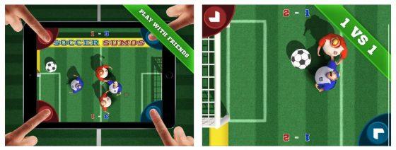Wem es im Finale am Sonntag etwas langweilig zu werden droht, der kann mit Soccer Sumos eine Art TippKick auf iPhone und iPad spielen und hat damit garantiert auch Spaß.
