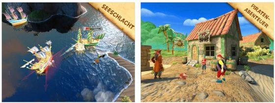 Piratenabenteuer mit Minispielen bietet Käpt'n Säbelzahn. Ganz ohne Werbung und In-App-Käufe.