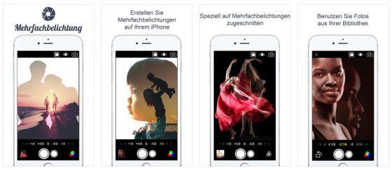 Die Bilder im App Store sind etwas irreführend, denn die Qualität kann man mit einfachen Überblendungen garnicht erreichen. Dafür braucht es dann eine gewissenhafte und aufwändige Bildbearbeitung - und das kann die App nicht leisten. Für Schnappschüsse besonderer Art ist sie aber gut und leicht bedienbar.