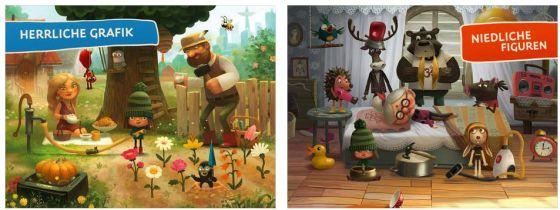 Ein Märchen über eine gesunde Lebensweise ist Grünkäppchen. Eine nette Idee und auch gut umgesetzt.