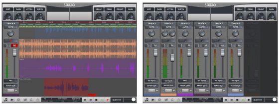 Rap Studio 2 kommt mit zehn Loops - wer also richtig damit arbeiten will, muss eigene Loops einsetzen. Die kann man mit anderen Musik-Apps, wie zum Beispiel Garage Band selbst erstellen und dann importieren.