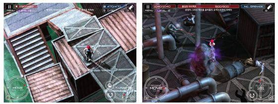 Die Animationen im Spiel sind nett gemacht: So brechen Elemente weg und die Böden senken sich. Die Vielfalt der Level soll eine Stärke des Spieles sein.