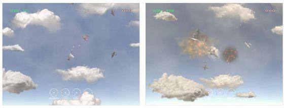 In Captain Temporium kämpfst Du allein gegen viele Flieger in unterschiedlichen Epochen. Es startet im Ersten Weltkrieg und geht dann Level für Level bis in die Zukunft.
