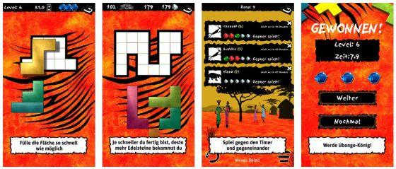 Die Ubongo-App setzt das Brettspiel gut für Mobilgeräte um.