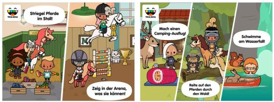 Alles rund ums Pferd bietet die noch recht neue App Toca Life: Stable. Für kleine Pferdefreunde sicher ein Spaß.
