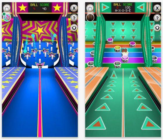 Skee-Ball Plus zählt Deine Treffgenauigkeit beim Werfen eines Balles auf verschiedene Spielfelder. Ein Spiel wie auf dem Jahrmarkt - nur dass es hier statt kleiner Gewinne so genannte Tickets gibt, mit denen man weitere Varianten freischalten kann.