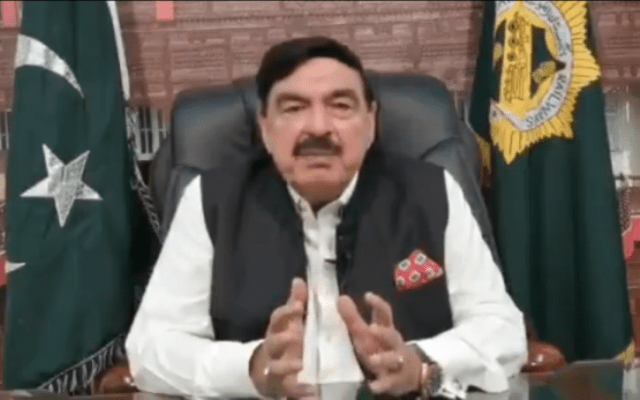 ):Minister for Railways Sheikh Rashid Ahmad