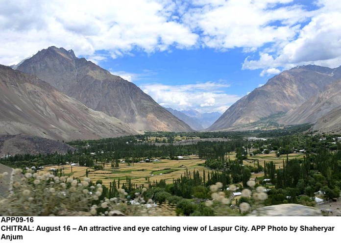 CHITRAL: August 16 – An attractive and eye catching view of Laspur City. APP Photo by Shaheryar Anjum