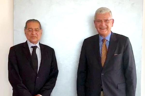 Pakistani envoy Munir Akram meets UNGA President-elect Volkan Bozkir