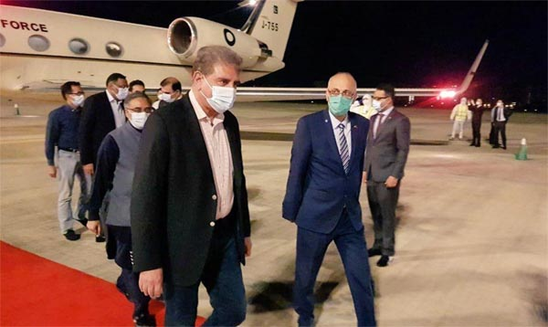 FM Qureshi arrives in Hainan, China for strategic dialogue