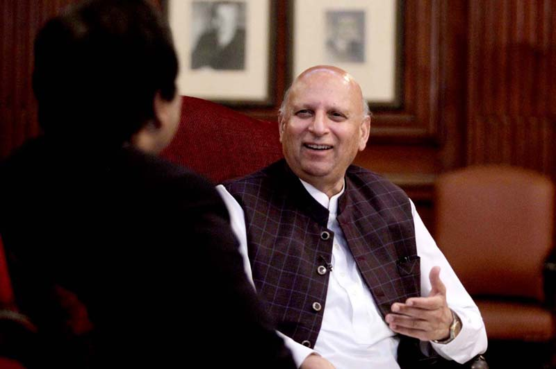 LAHORE: September 13 - Punjab Governor Chaudhry Muhammad Sarwar speaks during an interview with APP (Match the picture with the interview Punjab Governor already been released). APP photo by Rana Imran