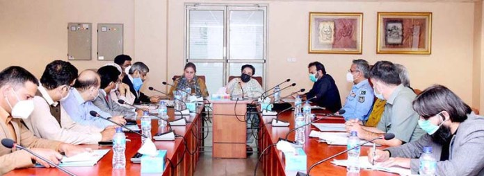 ISLAMABAD: September 11 - Federal Minister for Human Rights, Dr. Shireen Mazari chairing 2nd meeting of the Child Protection Advisory Board at Ministry of Human Rights. APP