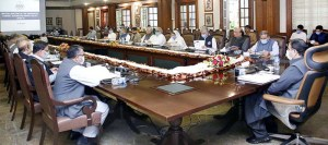 LAHORE: September 21 – Punjab Chief Minister, Sardar Usman Buzdar chairs a provincial cabinet meeting regarding Wheat Procurement Policy for 2020-2021. APP