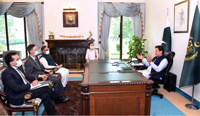ISLAMABAD: September 21 - Outgoing Chinese Ambassador H.E Mr. Yao Jing paid farewell call on Prime Minister Imran Khan. APP