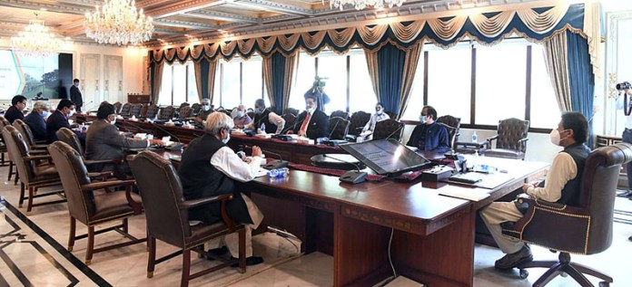 ISLAMABAD: September 23 – Prime Minister Imran Khan chairing a meeting on reforms in the agriculture sector. APP