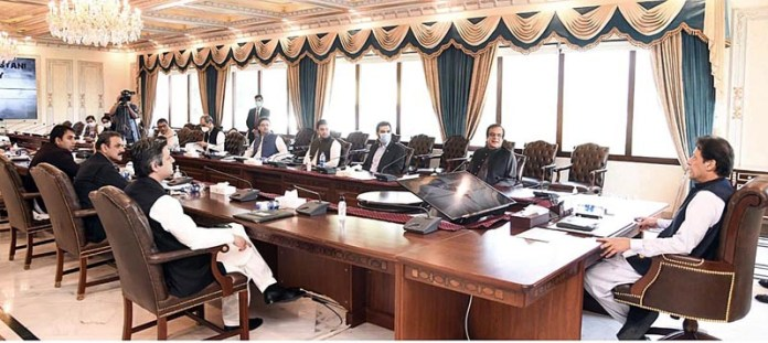 ISLAMABAD: September 18 - Prime Minister Imran Khan chairing a meeting regarding revival of Cinema Industry of Pakistan. APP