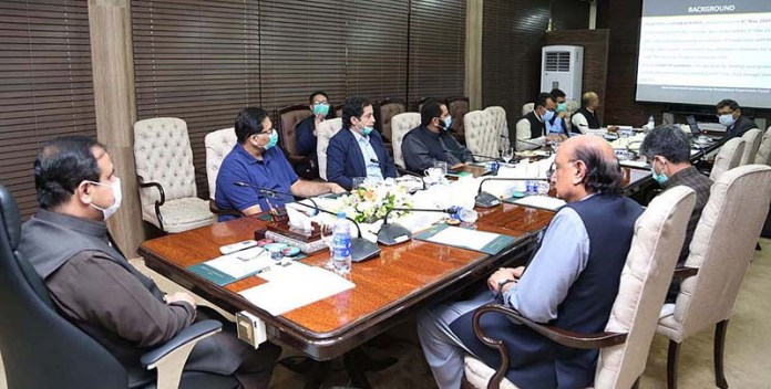 LAHORE: September 06 – Chief Minister Punjab Sardar Usman Buzdar presiding over a high level meeting about Local Government. APP
