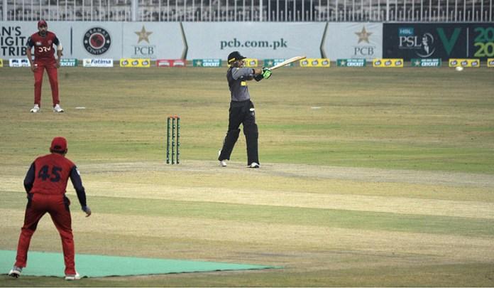 RAWALPINDI: October 16 – A view of cricket match between Northern and Khyber Pakhtunkhwa teams during National T20 Cup played at Pindi Cricket Stadium.APP photo by Abid Zia