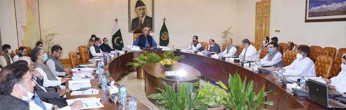 PESHAWAR: October 29 - Governor Khyber Pakhtunkhwa Shah Farman presides 7th Senate meeting of Kohat University of Science & Technology at Governor's House. APP