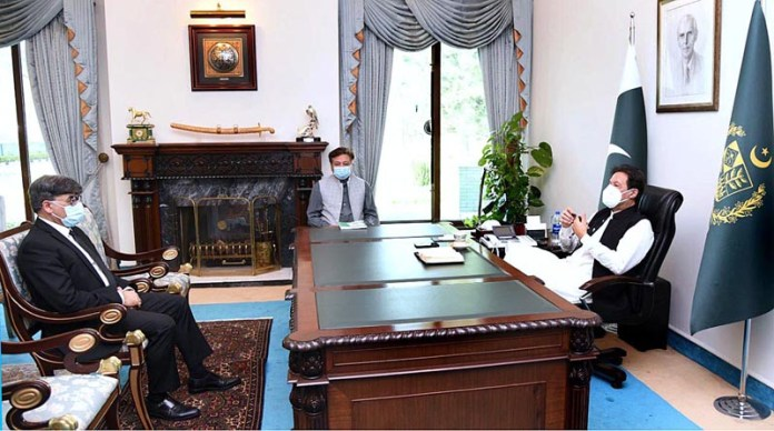 ISLAMABAD: October 21 - Attorney General of Pakistan Khalid Jawed Khan called on Prime Minister Imran Khan. APP