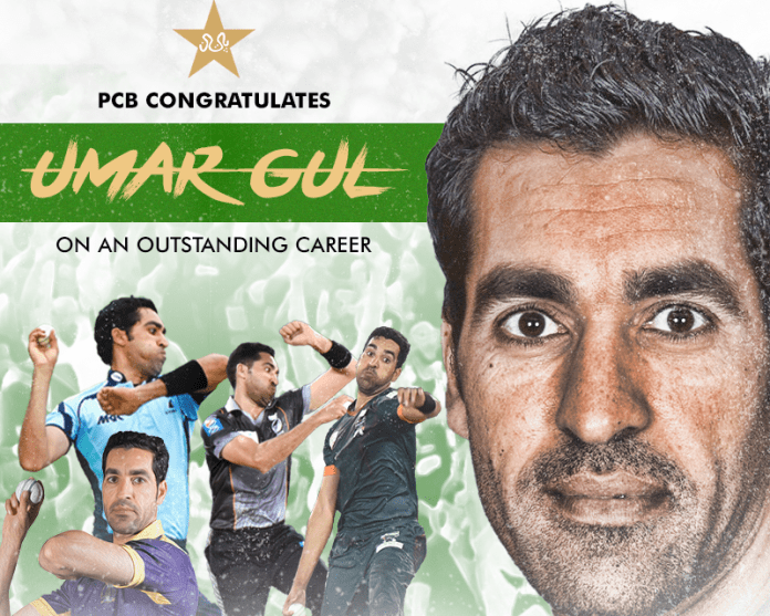 PCB congratulates Umar Gul on a successful career