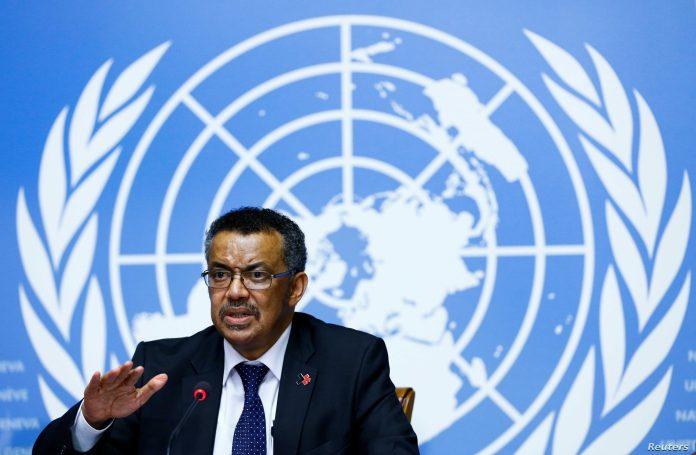 The World Health Organization (WHO) chief, Tedros Adhanom Ghebreyesus