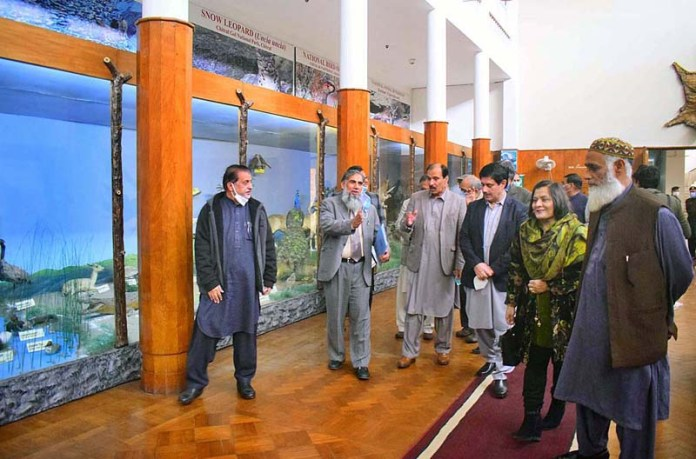 DG Forest Javed Anwar, Secretary NEC Dr. Abdul Ghafoor and other delegation members are visiting Forest Museum