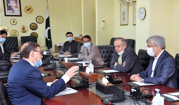 Abdul Razak Dawood, Advisor to the Prime Minister on Commerce and Investment in a meeting with Rice Exporters Association of Pakistan (REAP) (VIA ZOOM)