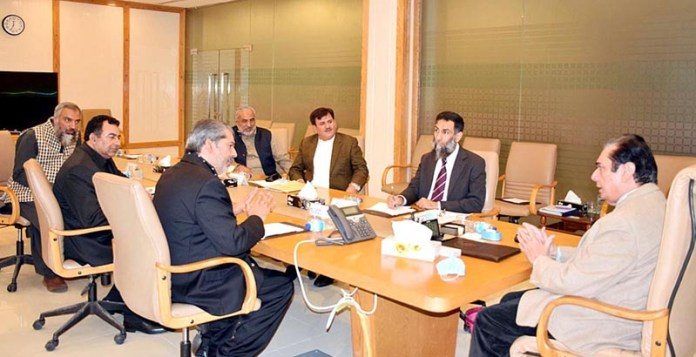 Chairman NAB, Justice (Retd) Javed Iqbal in a meeting with a delegation of Pakistan Flour Mills Association at NAB Headquarters