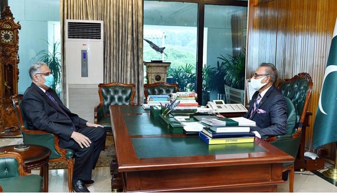 MNA, Ghaus Bukhsh Mahr called on President Dr Arif Alvi at Aiwan-e-Sadr