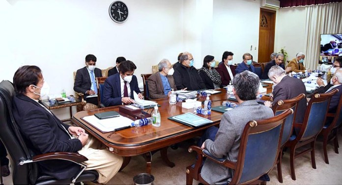 Prime Minister Imran Khan chairing a meeting on price control