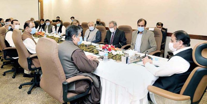Punjab Chief Minister Sardar Usman Buzdar chairing a meeting with All Pakistan Mines and Minerals Association delegation headed by its President Mir Behroze Racky Baloch