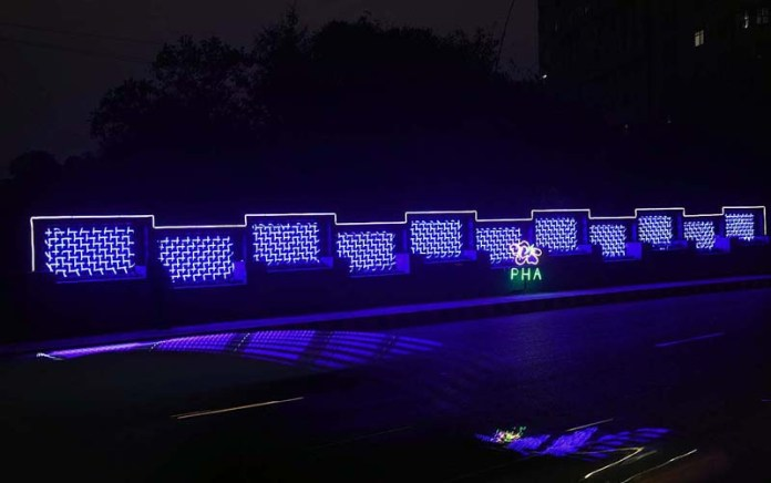 Parks & Horticulture Authority installed decorative lights at Jail Road during beautification of city campaign