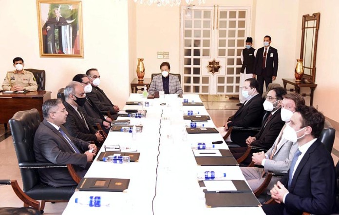 Prime Minister Imran Khan chairing a meeting of the Working Group of Ravi Urban Development Authority and Pakistan Island Development Authority