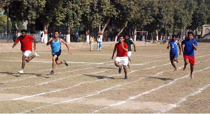 A view of 100 meters race during Commissioner Cup Sports Gala 2020