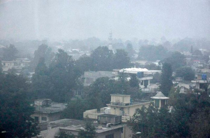 A view of thick fog that engulfs the Federal Capital