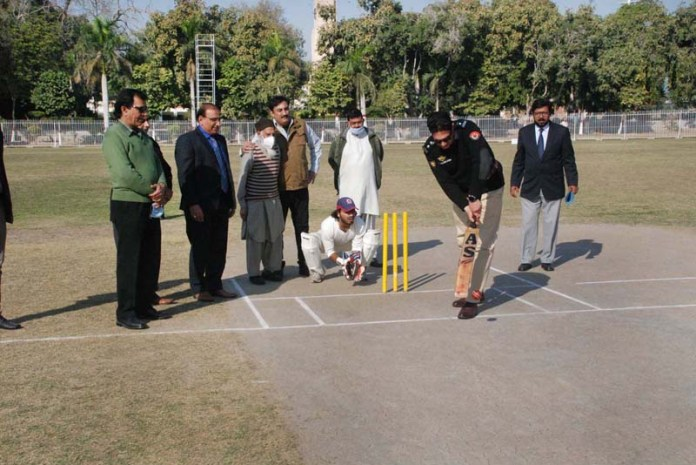 Superintendent Jail Bahawalpur Shahram Tauqeer inaugurates T-20 Cricket Tournament 2020 during opening ceremony of 1st Deputy Commissioner T-20 Cricket Tournament 2020