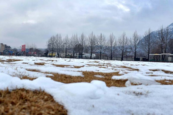 An attractive and eye catching view of snow covered area of City Park
