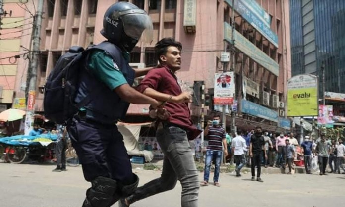 "A day before Narendra Modi's visit to Bangladesh, the capital Dhaka and other cities echoed with ""Go Back - Modi"" slogans as hundreds of people took to streets to unwelcome the Indian premier for his anti-Muslim policies."