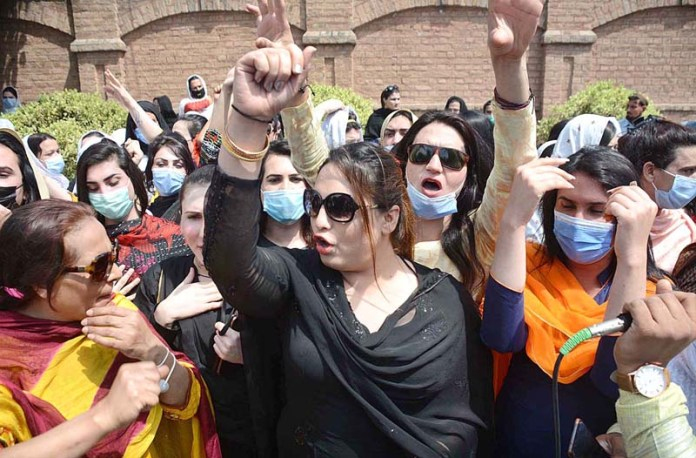Transgender community holding protest demonstration in front of Press Club against increasing violence against them