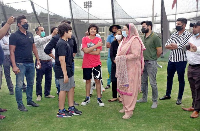 Special Assistant to Chief Minister Punjab Dr. Firdous Ashiq Awan visiting Qalandar High Performance Center at Kingston College