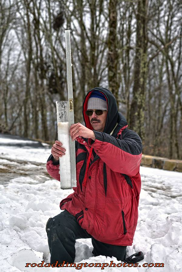 "Wayne Browning With 22"" ( 15"" Compressed ) Snow Core On High Knob"