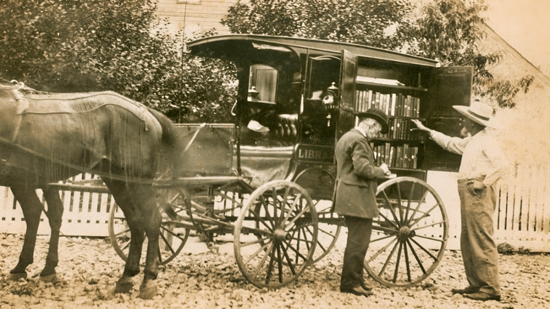 First bookmobile in the country - Appalachian History