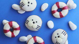 ぬっ!! かわいいっ!! アザラシと浮き輪の激かわドーナツが6/23発売! #クリスピークリームドーナツ