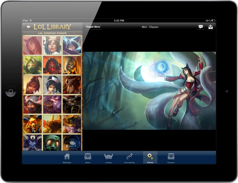 Lol Library League Of Legends Mobile App IPhone IPad Amp Android