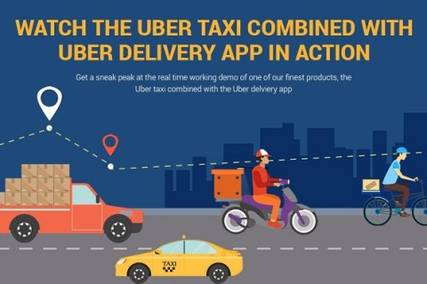 Delivery with ride booking app