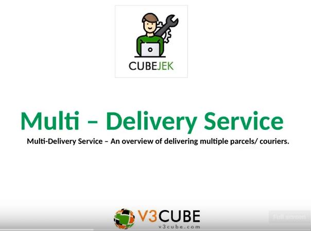 Cubejek App – Multi-delivery Service Flow