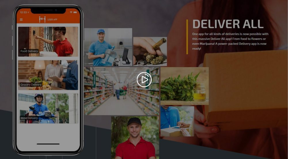 DeliverAll Apps Graphical Video – Including Food, Grocery, etc On-Demand Delivery