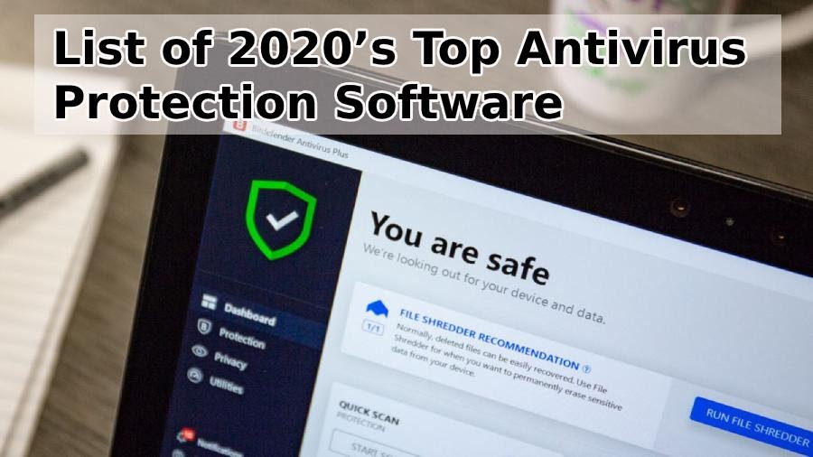 List of 2020's Top Antivirus Protection Software